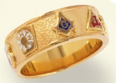 York Rite & Shrine, 10KT OR 14KT , Solid Back  #1113