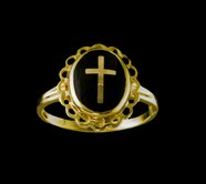 Ladies Clergy Ring, 10KT or 14KT Yellow or White Gold #33