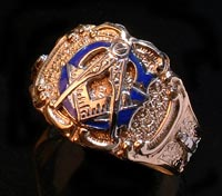 3rd Degree Blue Lodge Masonic Ring 10KT OR 14KT, Solid Back  #26