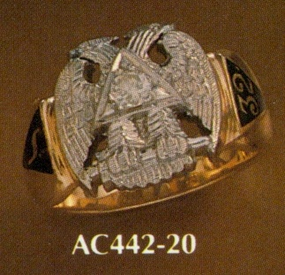 Wefferling Berry Scottish Rite Ring, Solid Back #11