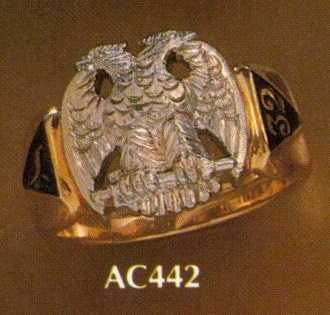 Wefferling Berry Scottish Rite Ring, Solid Back #10