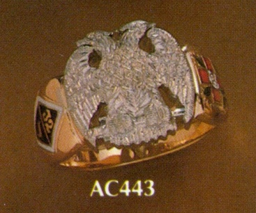Wefferling Berry Scottish Rite Ring, Solid Back #12