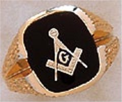 3rd Degree Masonic Blue Lodge Ring 10KTor 14KT, Open Back  #201