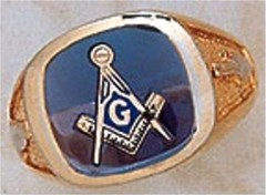 3rd Degree Masonic Blue Lodge Ring 10KT OR 14KT, Open Back #204