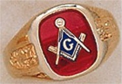 3rd Degree Masonic Blue Lodge Ring  10Kt or 14KT, Open Back #207