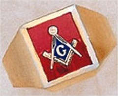 3rd Degree Masonic Blue Lodge Ring 10KT OR 14KT, Open Back  #215