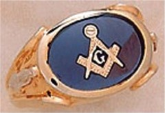 3rd Degree Masonic Blue Lodge Ring 10KT OR 14KT, Open Back #218
