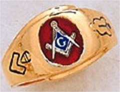 3rd Degree Masonic Blue Lodge Ring 10KT OR 14KT, Solid Back #213
