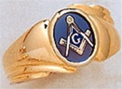 3rd Degree Masonic Blue Lodge Ring 10KT OR 14KT, Open Back  #214