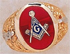 3rd Degree Masonic Blue Lodge Ring 10KT OR 14KT, Open Back #219
