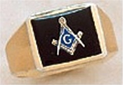3rd Degree Masonic Blue Lodge Ring 10KT OR 14KT Gold, Partial Closed Back  #228