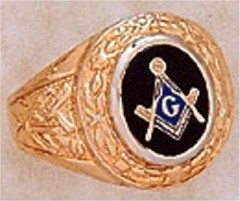 Masonic Blue Lodge Ring 10KT OR 14KT, Partial Closed Back #225