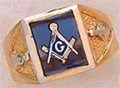 3rd Degree Masonic Blue Lodge Ring 10KT OR 14KT Gold, Open Back #231
