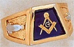 Masonic Blue Lodge Ring 10KT OR 14KT, Open Back  #226