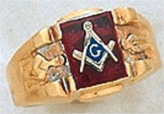 3rd Degree Masonic Blue Lodge Ring 10KT OR 14KT Gold, Solid Back  #233
