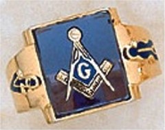 3rd Degree Masonic Blue Lodge Ring 10KT OR 14KT Gold, Open Back  #235