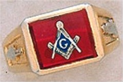 3rd Degree Masonic Blue Lodge Ring 10KT OR 14KT Gold, Open Back #236