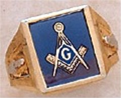 3rd Degree Masonic Blue Lodge Ring 10KT OR 14KT Gold, Open Back  #232