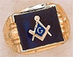 3rd Degree Masonic Blue Lodge Ring 10KT OR 14KT  Gold, Solid Back #239