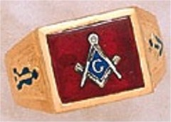 3rd Degree Masonic Blue Lodge Ring 10KT OR 14KT  Gold, Solid Back #242