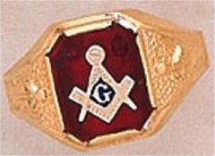 3rd Degree Masonic Blue Lodge Ring 10KT OR 14KT Gold, Solid Back  #243