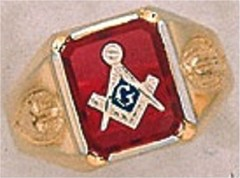 3rd Degree Masonic Blue Lodge Ring 10KT OR 14KT  Gold, Open Back #237