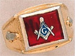 3rd Degree Masonic Blue Lodge Ring 10KT OR 14KT Gold, Open Back #238