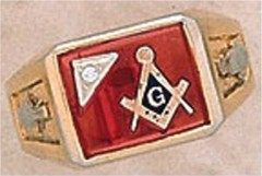 3rd Degree Masonic Blue Lodge Ring 10KT OR 14KT  Gold, Partial Closed Back  #244