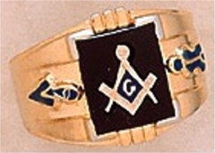 3rd Degree Masonic Blue Lodge Ring 10KT OR 14KT  Gold, Open Back #247