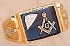 3rd Degree Masonic Blue Lodge Ring 10KT OR 14KT  Gold, Partial Closed Back   #246