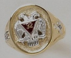 Scottish Rite Rings 10KT or 14KT  Solid Back #1143
