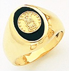 10KT or 14KT Air Force Ring, Solid Back, Yellow or White Gold #4