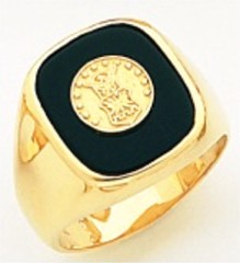 10KT or 14KT Air Force Ring, Solid Back, Yellow or White Gold #3