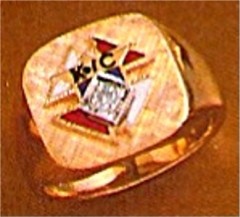 #55 Wefferling Berry Knights of Columbus Rings 10KT or 14KT Gold, Solid Back , White or Yellow Gold