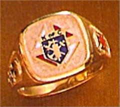 #57 Wefferling Berry Knights of Columbus Rings 10KT or 14KT Gold, Open Back , White or Yellow Gold