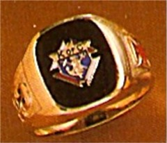#59 Wefferling Berry Knights of Columbus Rings  14KT Gold, Solid Back , White or Yellow Gold