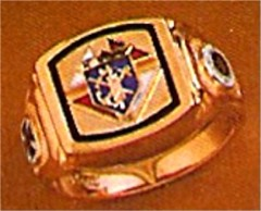 #60 Wefferling Berry Knights of Columbus Rings 10KT or 14KT Gold, Solid Back , White or Yellow Gold