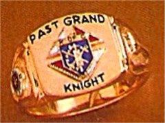 #61 Wefferling Berry Knights of Columbus Rings 10KT or 14KT Gold, Solid Back , White or Yellow Gold