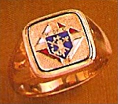 #63 Wefferling Berry Knights of Columbus Rings 10KT or 14KT Gold, Solid Back , White or Yellow Gold