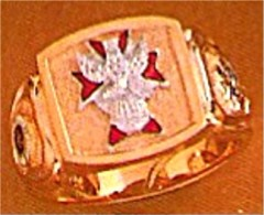 #65 Wefferling Berry Knights of Columbus Rings 10KT or 14KT Gold, Solid Back , White or Yellow Gold