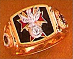 #66 Wefferling Berry Knights of Columbus Rings 14KT Gold, Solid Back , White or Yellow Gold