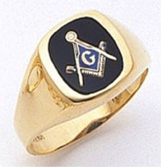 3rd Degree Masonic Blue Lodge Ring 10KT OR 14KT, Open or Solid Back, White or Yellow Gold, #108B