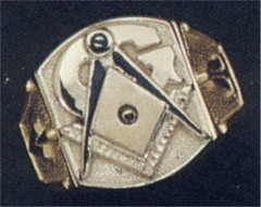 3rd Degree Masonic Blue Lodge Ring 10KT or 14KT White or Yellow Gold, Open or Solid Back #318