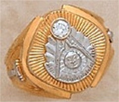 Masonic Past Master Rings, 10KTor 14KT GOLD, Hollow or Solid Back #1008C