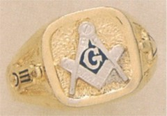 3rd Degree Blue Lodge Masonic Ring 10KT OR 14KT, Solid Back  #13