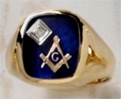 3rd Degree Masonic Ring 10KT OR 14KT  Open or Solid Back, White or Yellow Gold, #411A