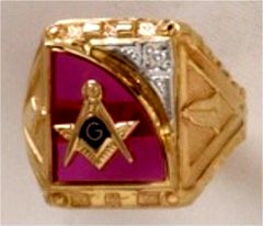3rd Degree Masonic Ring 10KT OR 14KT  Open or Solid Back, White or Yellow Gold, #707