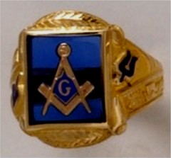 3rd Degree Masonic Ring 10KT OR 14KT Open or Solid Back, White or Yellow Gold, #708
