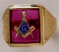 3rd Degree Masonic Ring 10KT OR 14KT Open or Solid Back, White or Yellow Gold, #709