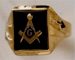 3rd Degree Masonic Ring 10KT OR 14KT Open or Solid Back, White or Yellow Gold, #710
